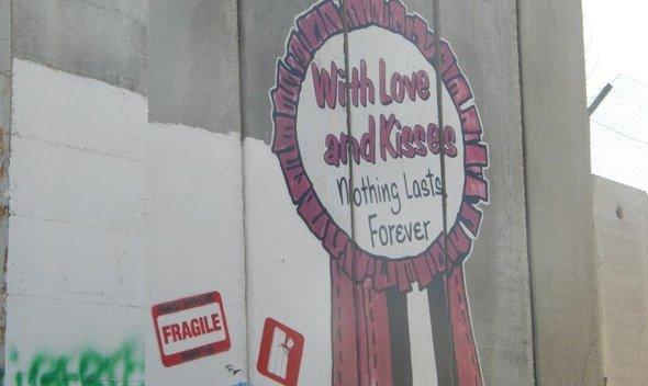 Graffiti an der von Israel errichteten Mauer, Foto: Yannick von Lautz