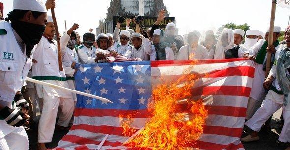 Anti-American riots in Indonesia (photo: dapd)