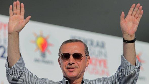 Der türkische Ministerpräsident Erdogan; Foto: dpa