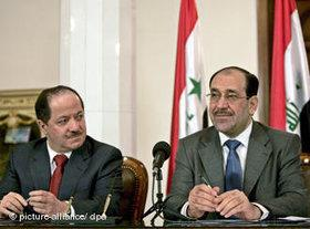 Iraqi Prime Minister Nouri al-Maliki (right) and Kurdish President Massoud Barzani (photo: dpa)