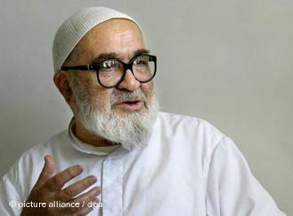 Ayatollah Hossein Ali Montazeri in the Iranian city of Qom (photo: AP)