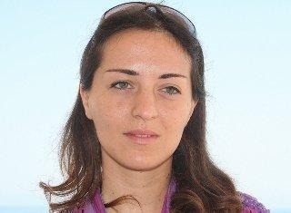 Rosa Schiano of the International Solidarity Movement (ISM) in Gaza (photo: Bettina Marx/DW)