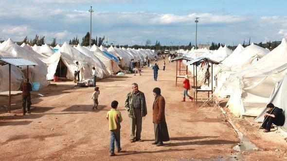 Refugee camp near Reyhanli, province Hatay (photo: Reuters)
