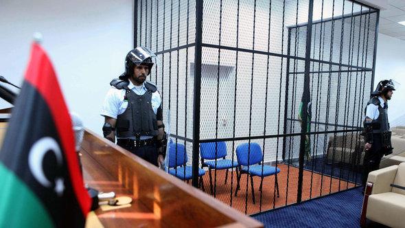 Court room for the trial against Gaddafi's son Saif al-Islam in Tripoli (photo: dpa)