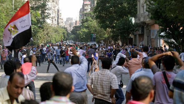 Protests against President Mohammed Mursi in Cairo (photo: AP)