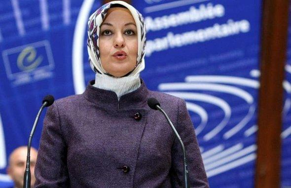 Hayrünnisa Gül during a speech in front of the Council of Europe (photo: AP)