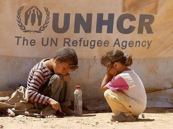 Syrian children in the Jordan refugee camp Zaatari (photo: dpa)