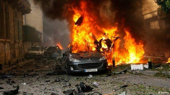 The aftermath of the bomb attack on Sassine Square in Ashrafiya, a Christian district in East Beirut (photo: Reuters)