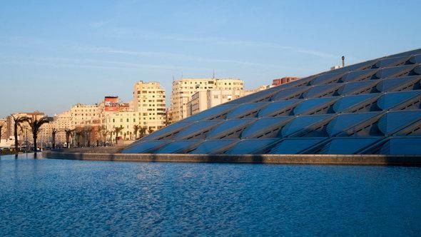 The Bibliotheca Alexandrina, the New Library of Alexandria (photo: dpa/master)