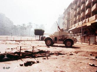 Beirut in 1975 at the time of the civil war (photo: AP)
