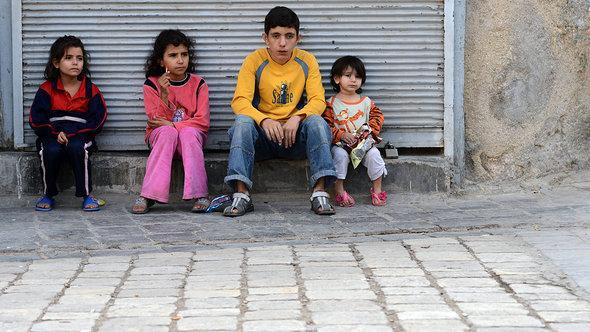 Kinder in Aleppo; Foto: AFP