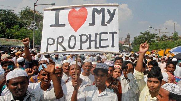 Proteste gegen islamfeindliches Video in Kalkutta, Indien; Foto: Reuters