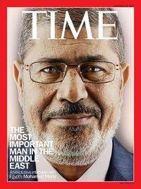 Cover des Time Magazines mit dem Porträtbild Mohammed Mursis