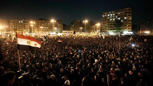 Protestors on Tahrir Square in Cairo, 27 November 2012 (photo: dapd)