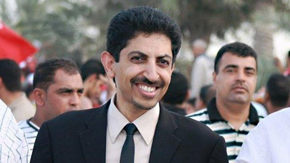 Abdulhadi Alkhawaja during a demonstration in Bahrain, undated photograph (photo: Bahrain Centre for human rights/CC)