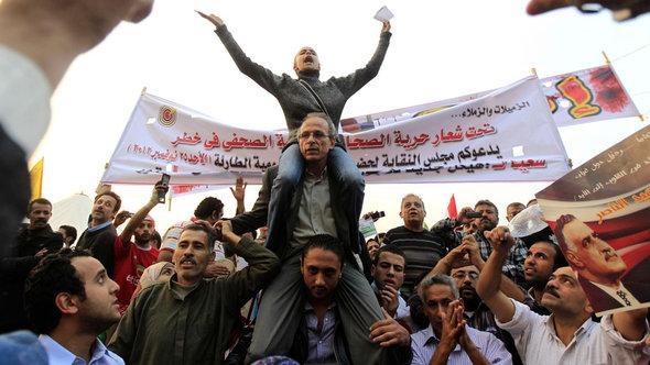 Proteste gegen den ägyptischen Präsidenten Mursi auf dem Tahrir-Platz, 27. November 2012; Foto: Reuters/Mohamed Abd El Ghany