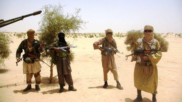 Fighters from Islamist group Ansar Dine on 24 April 2012 (photo: AP/dapd)