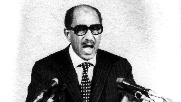 Egypt's former president Anwar al-Sadat (photo: AP)