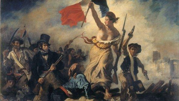 Eugene Delacroix' 'Liberty Leading the People' (1830) (image: DW)