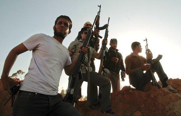 Libyan rebels in Misrata (photo: AP)