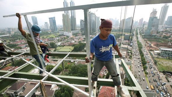 Construction site in Jakarta, Indonesia (photo: EPA/Adi Weda)