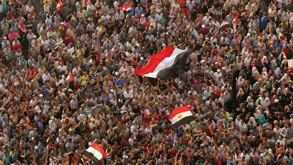 Demonstration gegen Mubarak in Kairo; Foto: Reuters