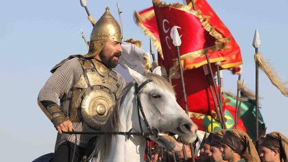 Still from a battle scene in the Turkish television series 'Muhteşem Yüzyil' (photo: imago/Seskim Photo)