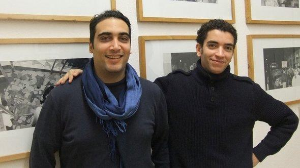 The human rights lawyers Amenallah Derouiche (left) from Tunisia and Mohamed Abdelaziz (right) from Egypt on a visit at the Stasi Memorial Museum in Berlin (photo: Christoph Dreyer)