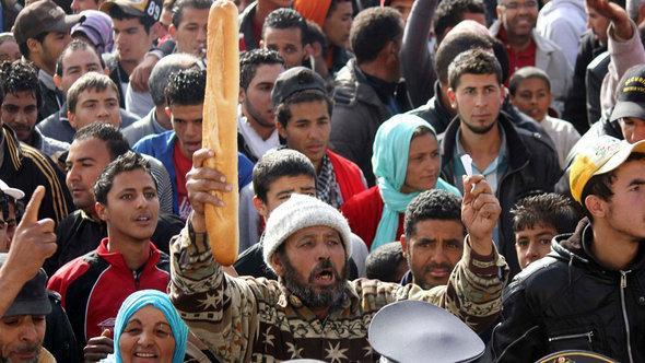 Protests in Sidi Bouzid (photo: Reuters)