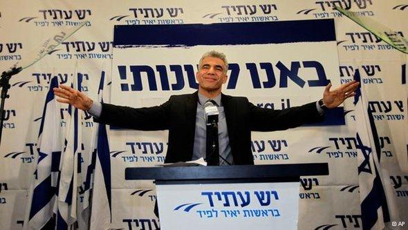 Yair Lapid in Tel Aviv after his success in the elections (photo: AP)