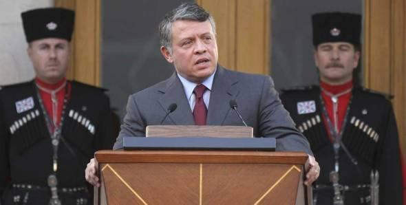 Jordan's King Abdullah II speaks to the Royal reform committee (photo: ddp images/AP Photo/Nader Daoud)