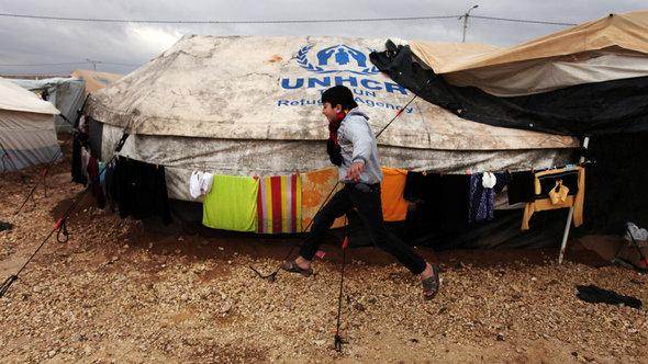 The Zaatari Syrian refugee camp in Jordan (photo: AP)