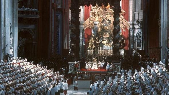 Opening ceremony of the Second Vatican Council in 1962 (photo: Gerhard Rauchwetter/dpa)