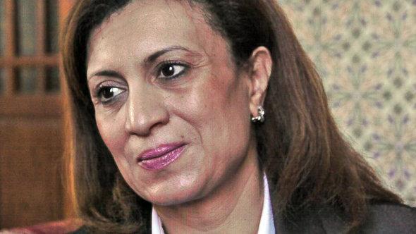 Souad Abdelrahim of the Ennahda party (photo: Utte Schaeffer/DW)