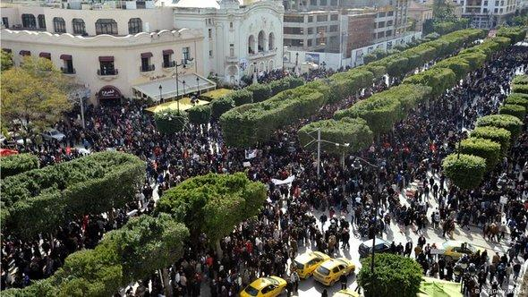 Demonstration in Tunis on 16 March 2013 (photo: FP/Getty Images)