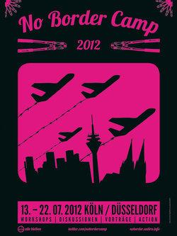 Poster from the 'No Border Camp 2012' campaign (source: No Border Camp 2012)