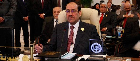 Iraqi Prime Minister Nouri al-Maliki at the opening session of the 23rd Arab League summit in Baghdad in March 2012 (photos: Reuters)