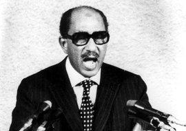 Der ägyptische Präsident Anwar al-Sadat; Foto: AP
