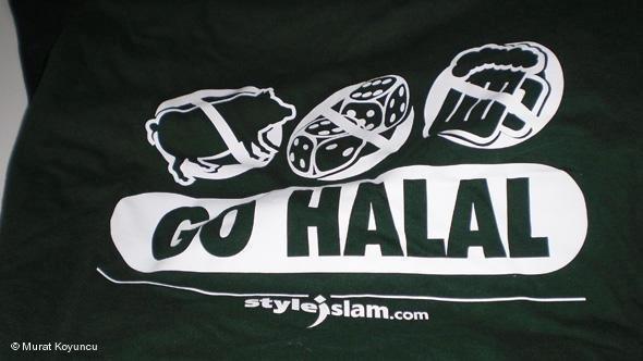 Thrase 'Go Halal' printed on a Styleislam clothing item (photo: Murat Koyuncu)