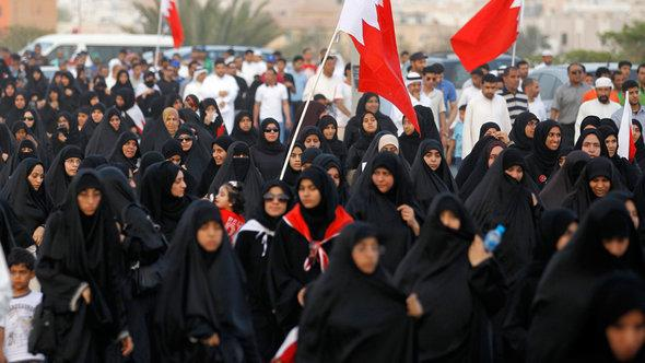 Supporters of Al-Wifaq demonstrating in the south of Manama (photo: Reuters)