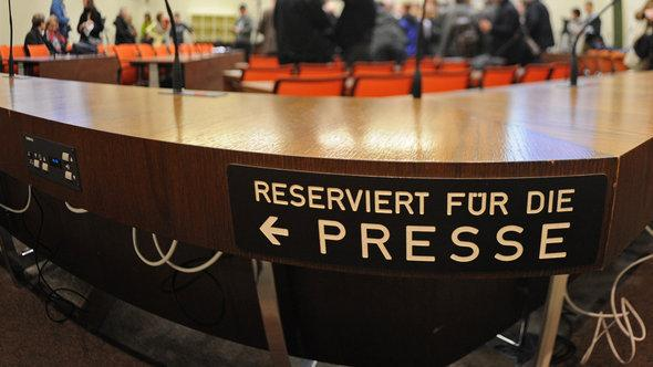Courtroom of the Higher Regional Court in Munich (photo: dpa/picture-alliance)