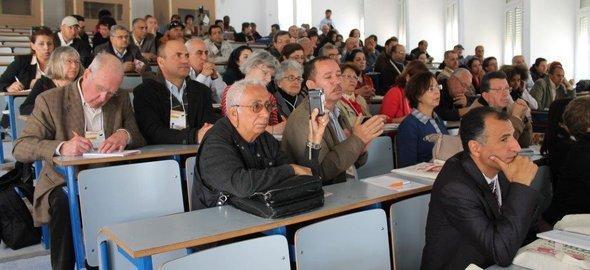 أكادميون تونسيون مشاركون في المنتدى الاجتماعي العالمي في تونس. تصوير: مارتينا صابرا