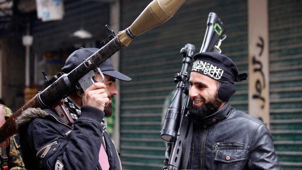 Members of the Jabhat al-Nusra rebel group in Aleppo (photo: Reuters)