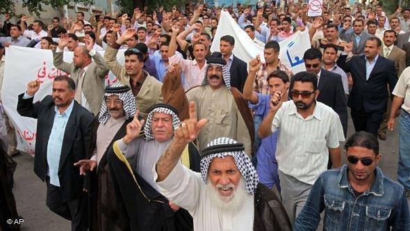 Sunni protests in Iraq (photo: AP)