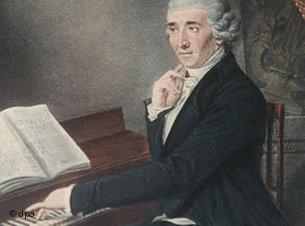 Joseph Haydn in a painting by J. Zitterer (source: dpa)