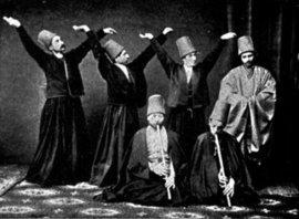 Mewlewi-Derwische um das Jahr 1887; Foto: wikimedia