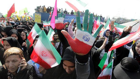 Revolutionary parade in Tehran in 2013 (photo: dpa)