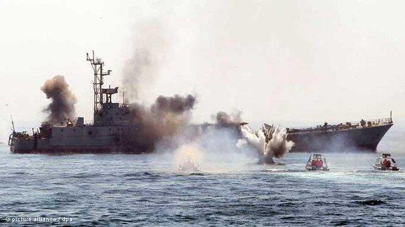 The Pasdaran in the Persian Gulf (photo: picture-alliance/dpa)