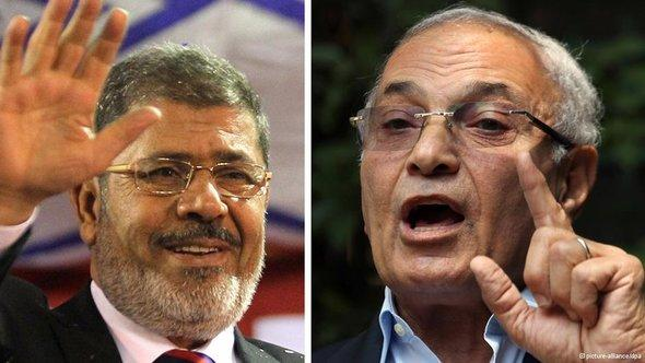 Mohammed Morsi and Ahmed Shafiq (photos: picture-alliance/dpa)