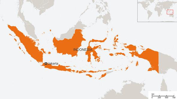 Map of Indonesia (photo: © DW)